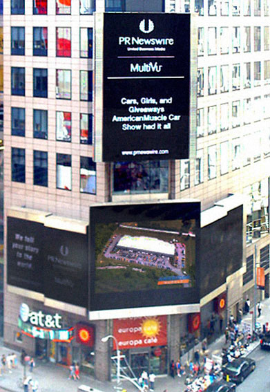 AmericanMuscle featured in Times Square