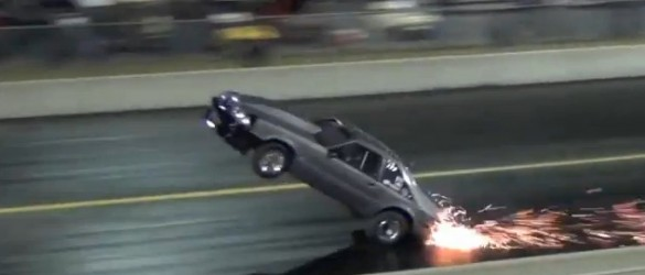 Kevin Neal Foxbody Mustang Wheelstand Crash