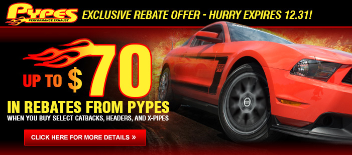 Pypes Mustang Exhaust Rebate