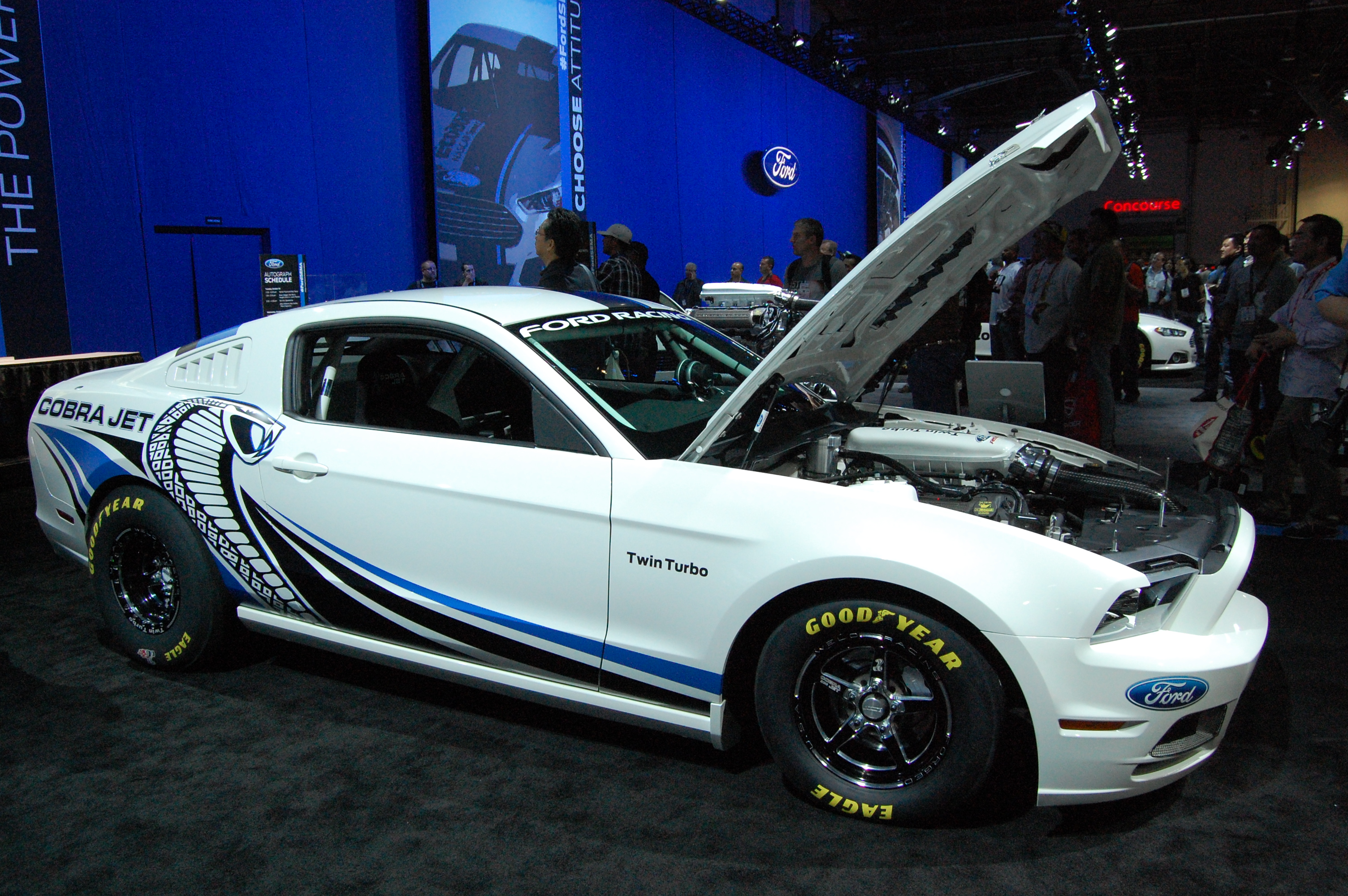 TRACK VIDEO: Unveiling of 2013 Twin-Turbo Cobra Jet Concept Mustang ...