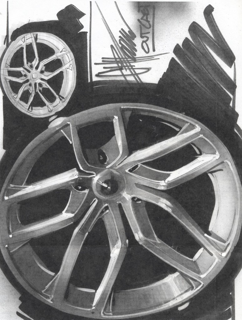 Hand Sketch Chip Foose Outcast Rims