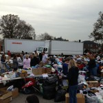 donated goods for Hurricane Sandy victims