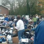 Sorting of donations for Hurrican Sandy