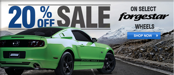 Forgestar Mustang Wheels Holiday Sale