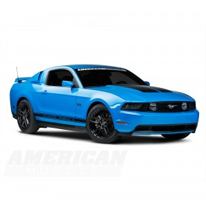 Black Ford Mustang 2013 Laguna Seca Wheels
