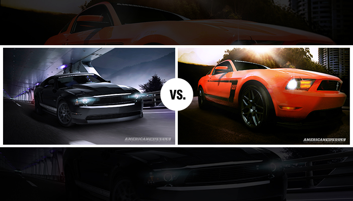 Boss vs. Night Cruiser Mustang Wallpapers