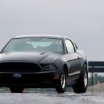 Flat Black 2014 Ford Mustang Cobra Jet Racecar