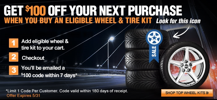 AmericanMuscle's $100 Off Sale for Ford Mustang Wheels