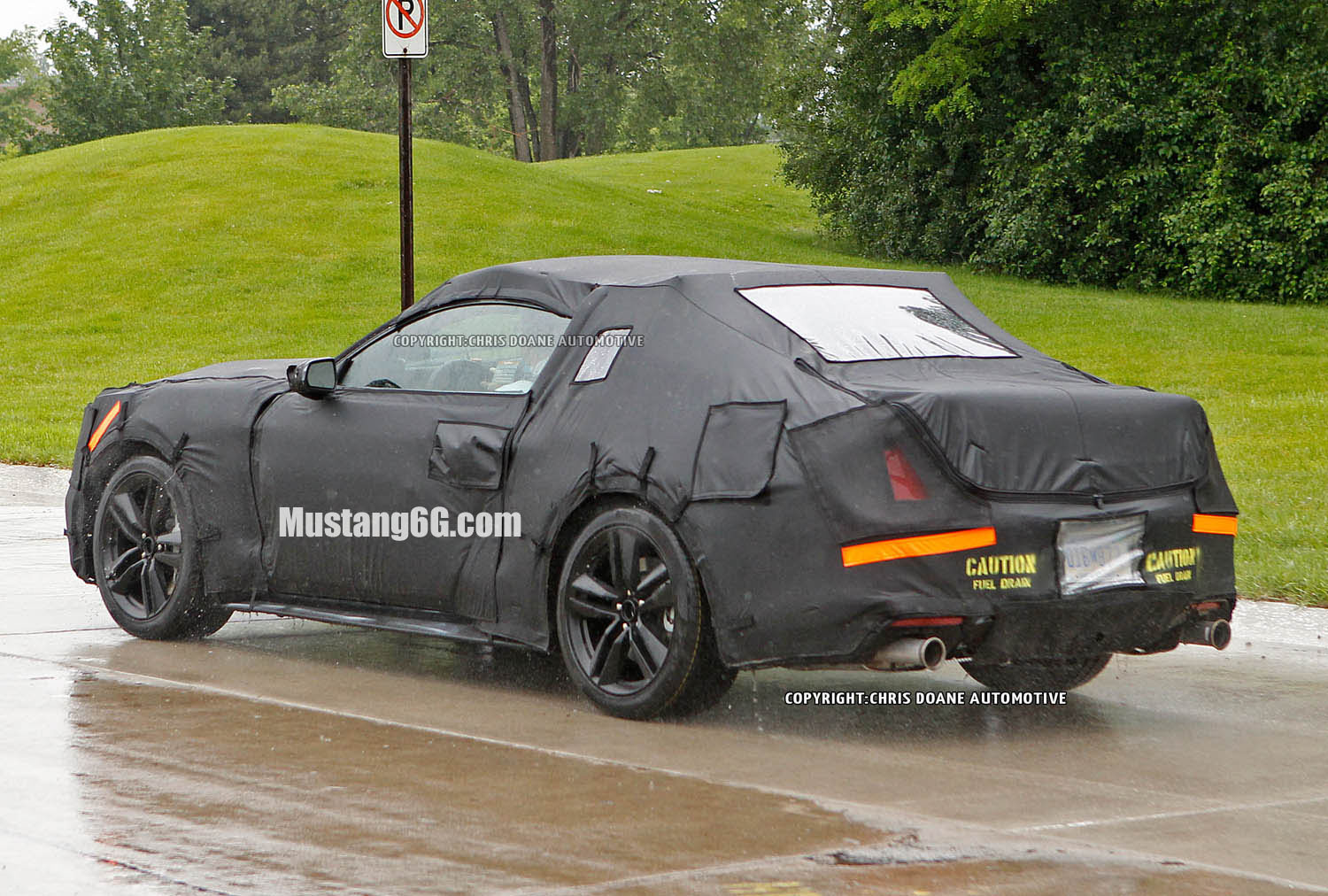 Camouflage Ford Mustang Rear of 2015 Ford Mustang Test