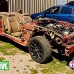 Oklahoma Tornado Mustang Parked