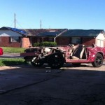 Oklahoma Tornado Mustang Driveway