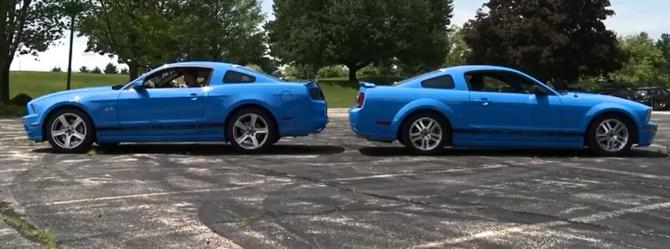 2014 Grabber Blue GT vs. 2006 Grabber Blue Mustang GT