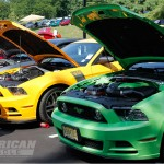 Mustangs at 2013 AmericanMuscle Car Show