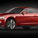 2015 Mustang Front Angle CAD Rendering