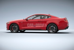C&D leaked 2015 Mustang Rendering