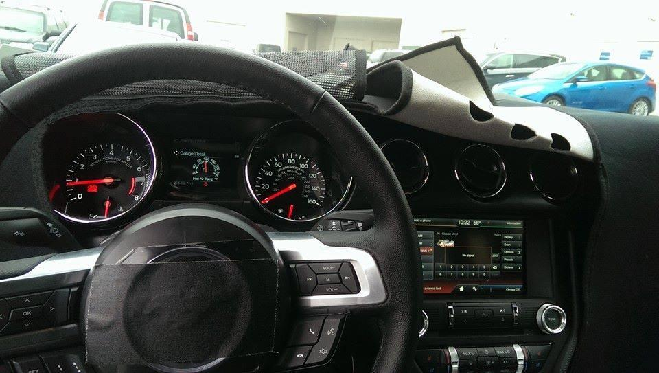 2015 Mustang Dash Gauges Spy Photo