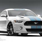 2015 Mustang Rendering Final White
