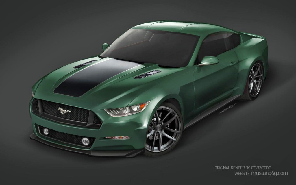 2015 Mustang Rendering with Body Kit