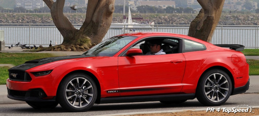 Red 2015 Mustang Mach 1 Rendering