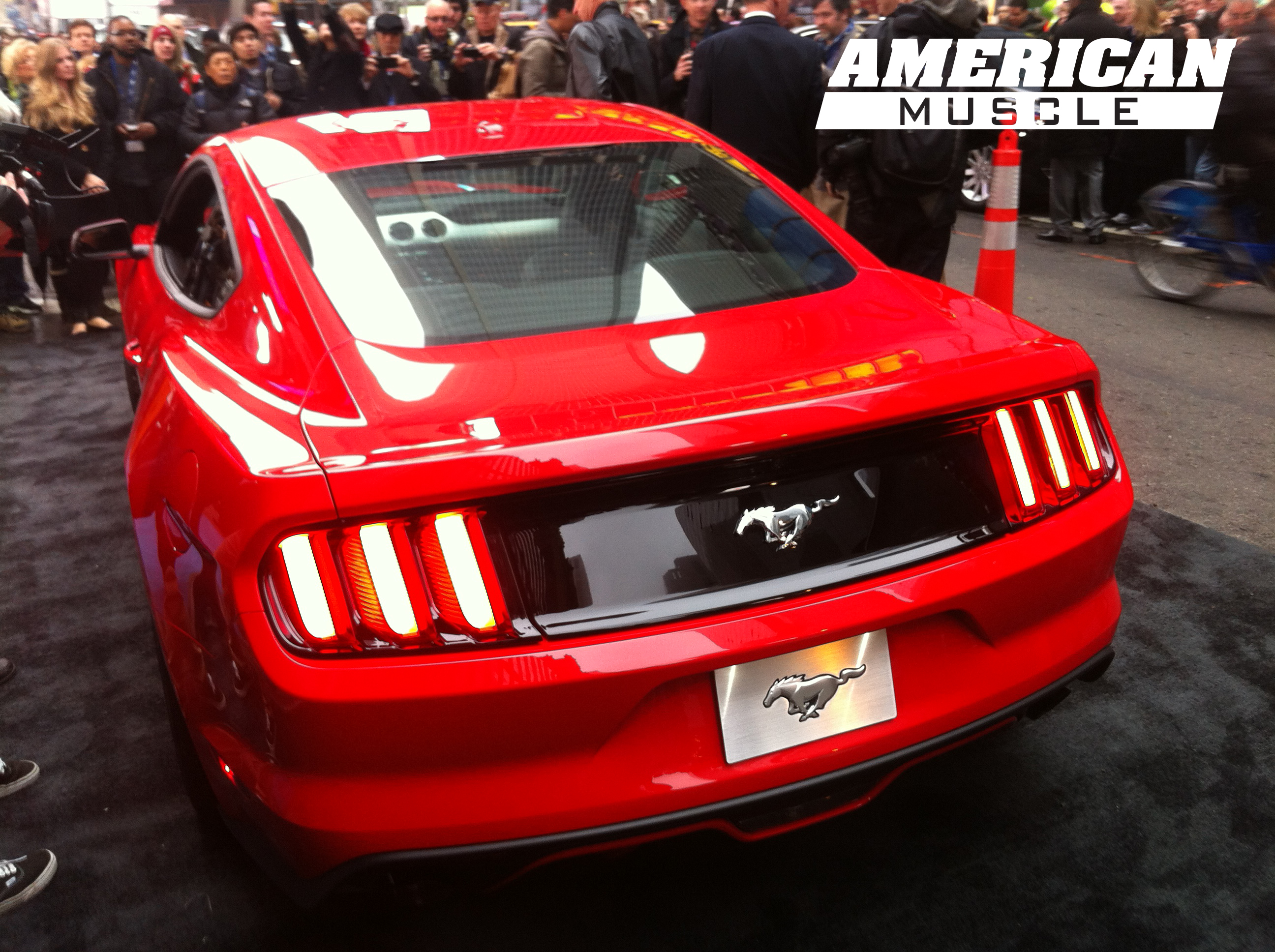 Rear of 2015 mustang at good morning america