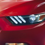 2015 Mustang GT Headlight Close Up
