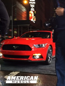 Front Face of 2015 Mustang at Good Morning America