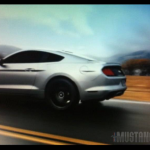 Silver 2015 Mustang GT Moving Rear