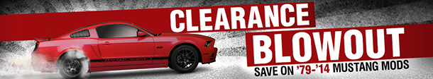 AmericanMuscle Mustang Parts Clearance Sale