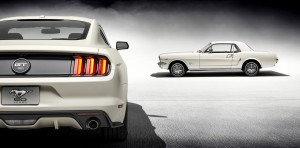 2014.5 and 1964.5 Wimbledon White Mustangs