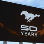 50 Years Mustang Celebration Sign