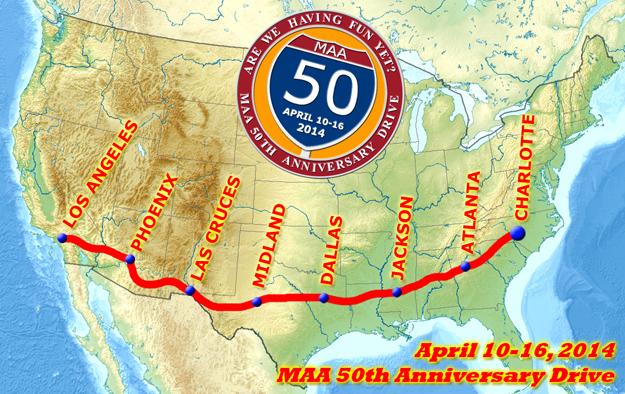 Mustangs Across America 50th Cruise