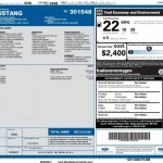 2015 Mustang Fuel Economy Rating