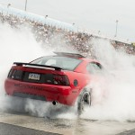 Mach 1 doing a burnout at the Roush Burnout contest #am2014