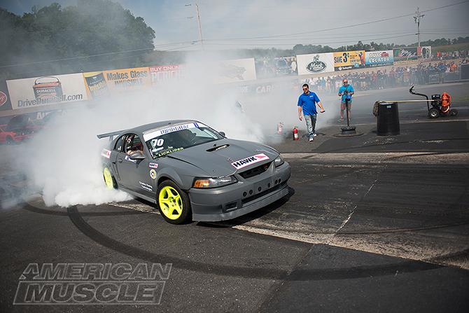 Wins Drifter Insane Watch Burnout Roush Mustang Contest