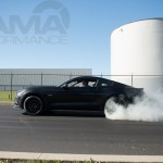 Black 2015 Mustang GT Burnout