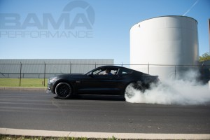 Black 2015 Mustang GT Burnout