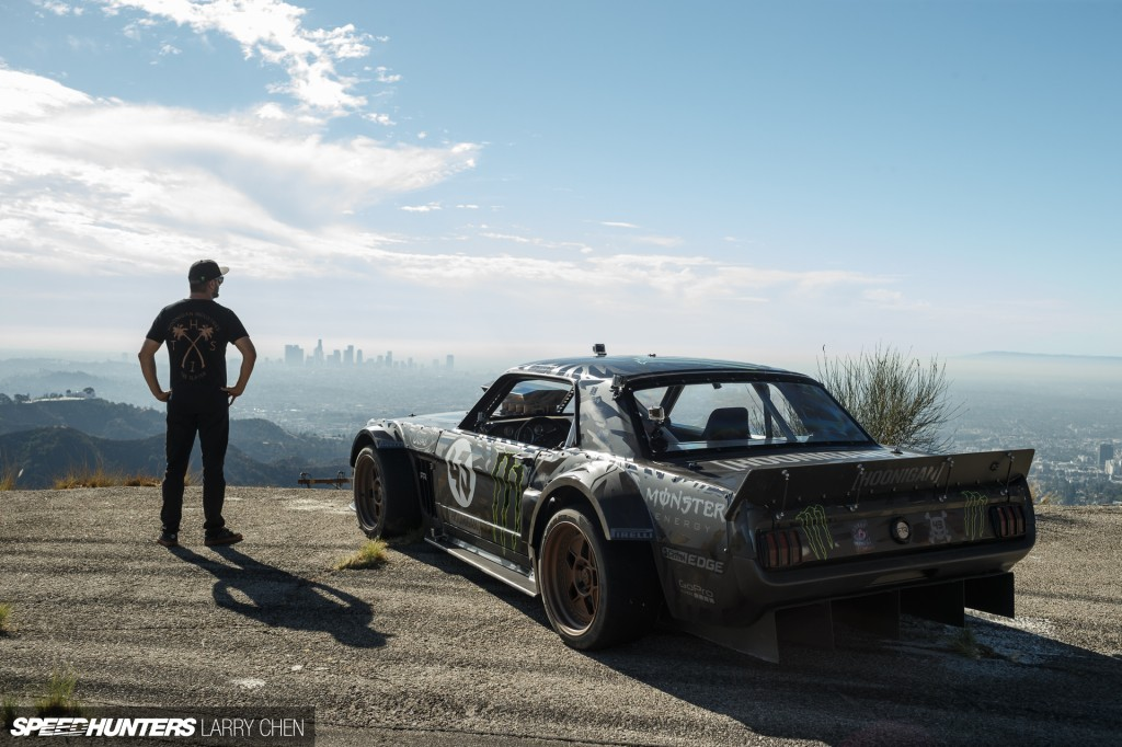 Ken Block and his 1965 AWD Mustang