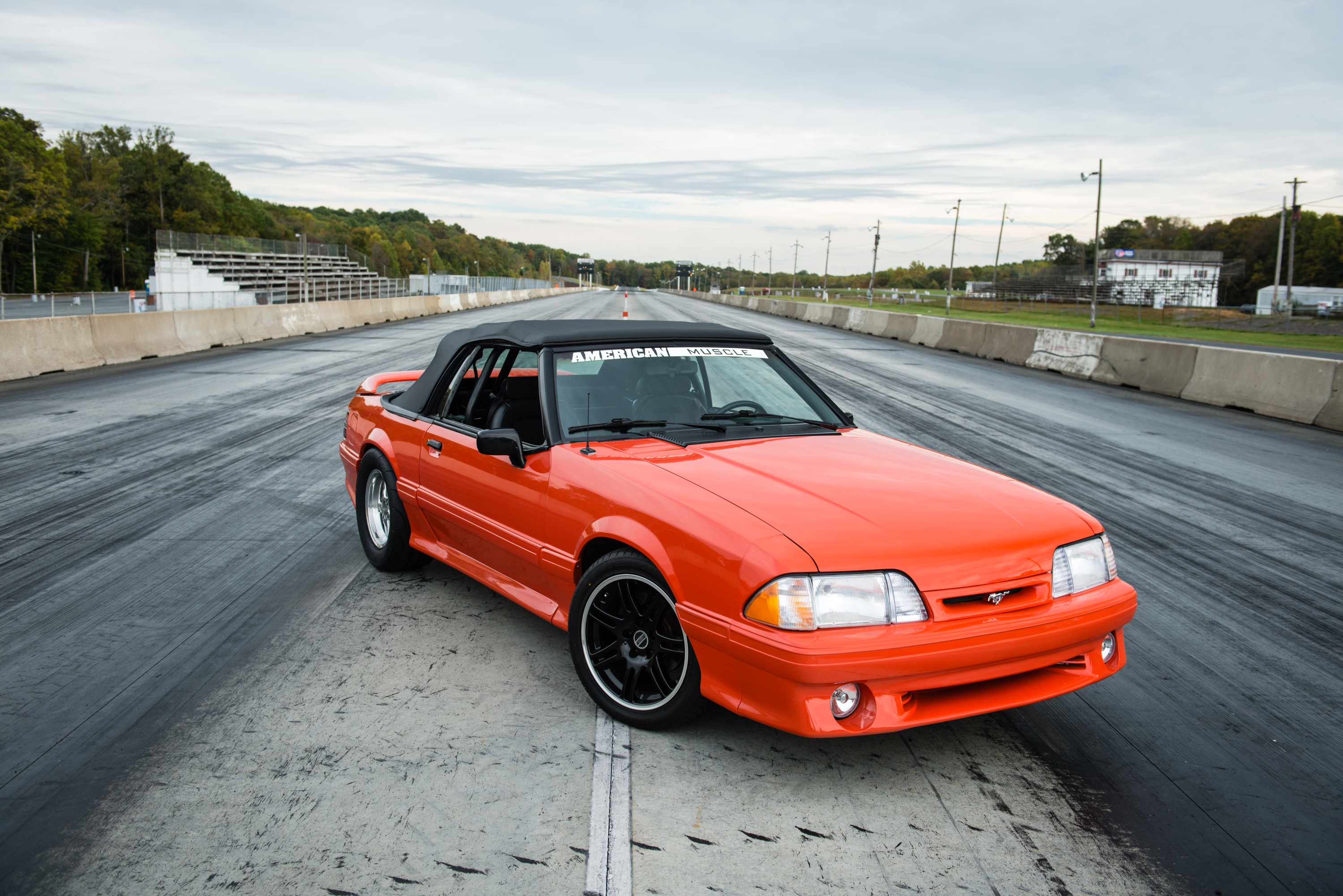 While the fox body mustang