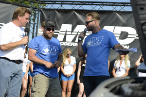 Chip Foose and Justin Dugan handing over MMD by Foose